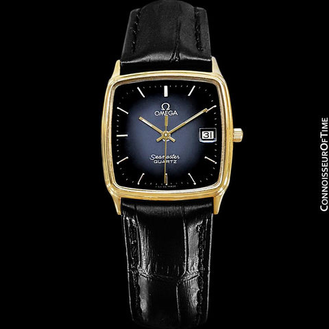 1985 Omega Seamaster Monaco Vintage Mens Quartz Watch - Stainless Steel & 18K Gold Plated