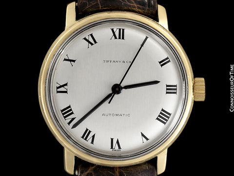 1970's Tiffany & Co. Vintage Mens Automatic Calatrava Watch - 18K Gold
