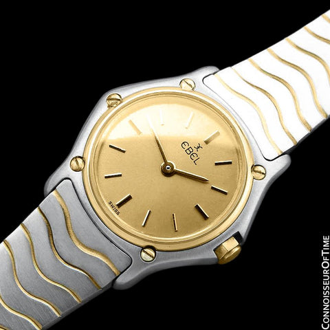 Ebel Classic Wave Ladies Two-Tone Mini Bracelet Watch - Stainless Steel & 18K Gold