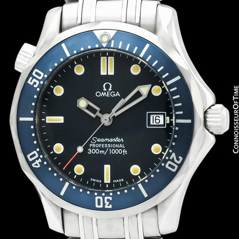 Omega James Bond Seamaster Midsize 300M Professional Diver, Stainless Steel - 2561.80.00 - Boxes and Papers