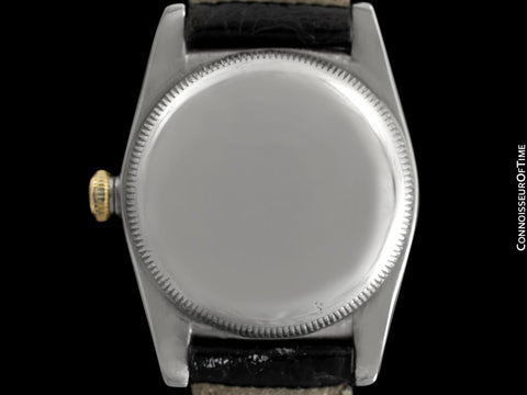 1948 Rolex Vintage Mens Two-Tone Bubbleback, Ref. 5011 with California Dial - Stainless Steel & 18K Gold