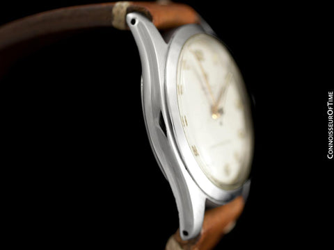 "1951 Rolex Mens Vintage ""Shock Resisting"" Super Oyster Watch, Stainless Steel - Classic & Rare Design"