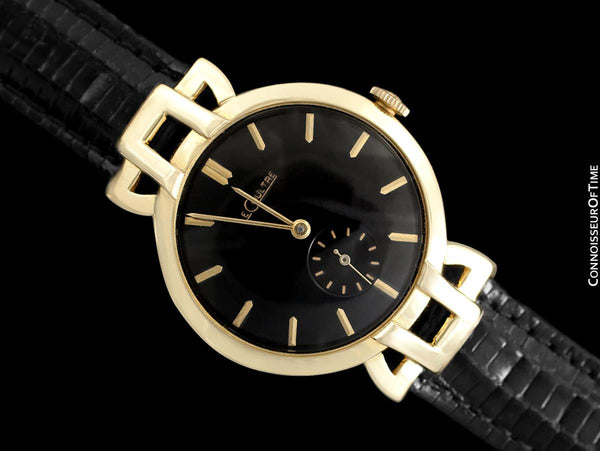 1951 Jaeger-LeCoultre Vintage Mens Watch, Extremely Rare Model, 18K Gold - The Hale