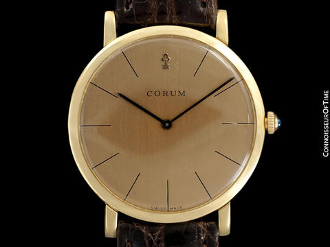 Corum Vintage Mens Ultra Thin Watch with Very Fine Frederic Piguet Based Movement - 18K Gold