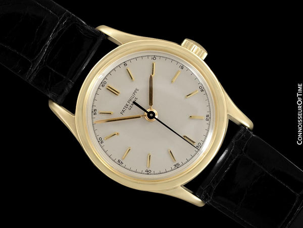 c. 1960 Patek Philippe Vintage Calatrava Ref. 2555 Mens Watch, 18K Gold - Rare Model