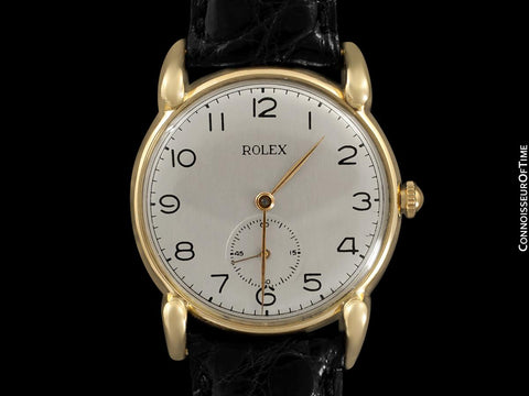 1940's Rolex Precision Vintage Mens Claw Lug Dress Watch - 18K Gold