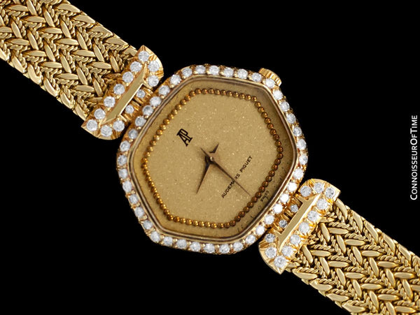 Audemars Piguet Rare & Exquisite Ladies Bracelet Watch - 18K Gold & Diamonds