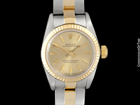 Rolex Ladies 2-Tone Datejust, Champagne Dial - 18K Gold & Stainless Steel, 67193