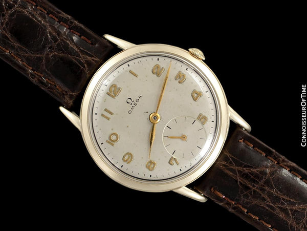 1948 Omega Vintage Mens Mid-Century Dress Watch - 14K Gold