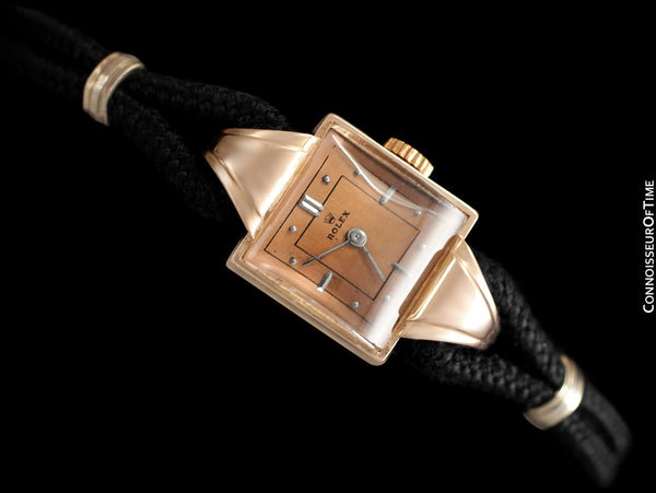 1940's Rolex Precision Vintage Pre-Cellini Ladies Watch, Ref. 3712 - 14K Rose Gold