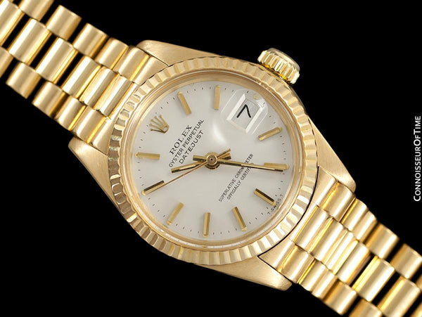 Rolex Ladies President (Datejust) Watch with White Dial - 18K Gold