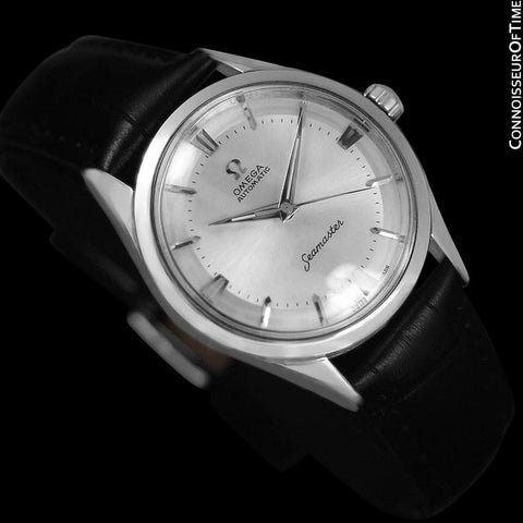 1958 Omega Seamaster Mens Unisex Vintage Automatic Watch - Stainless Steel