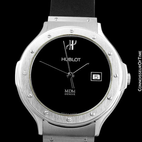 Hublot MDM Mens Unisex Watch with Date - Stainless Steel