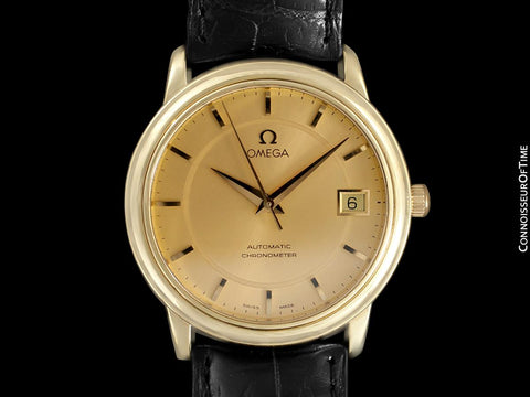 Omega De Ville Prestige Mens Automatic Chronometer Dress Watch - 18K Gold