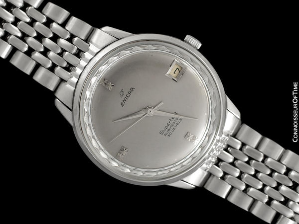 1960's Enicar Supertest Mens Vintage Chronometer Watch with Bracelet - Stainless Steel