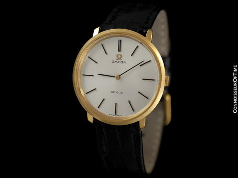 1971 Omega De Ville Mens 18K Gold Plated and Stainless Steel Dress Watch - Box & Papers