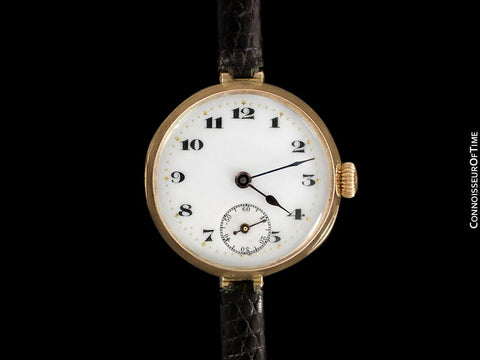 1920 Rolex Ladies Vintage Art Deco Watch - 9K Rose Gold