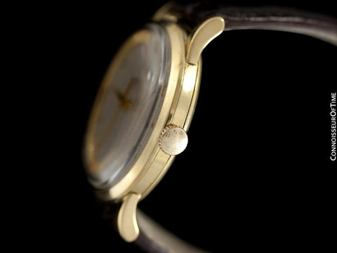 1958 IWC Vintage Mens Handwound Dress Watch, Caliber 89 - 18K Gold