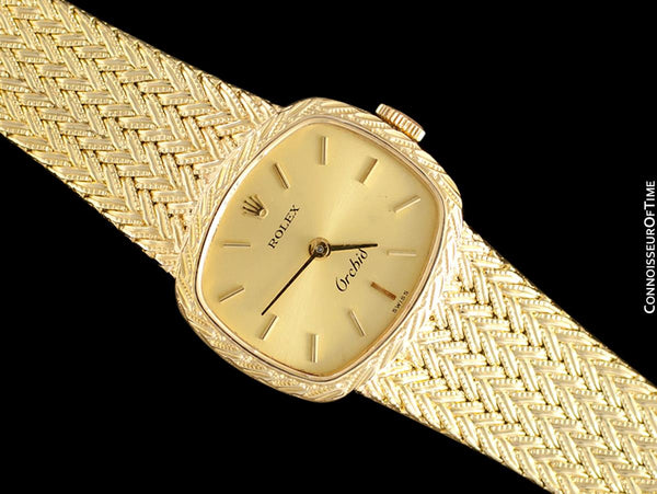 1990's Rolex Orchid Ladies Cellini Style Dress Watch - 18K Gold