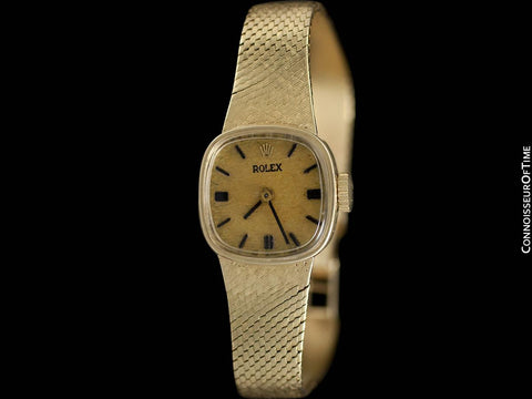 1960's Rolex Ladies Vintage Dress Bracelet Watch - 14K Gold