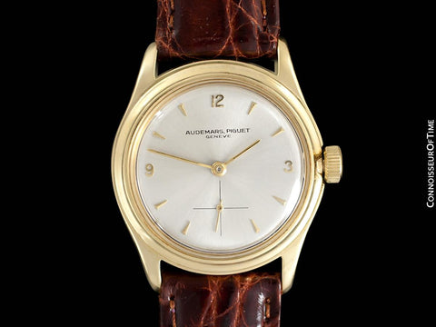 c. 1950 Audemars Piguet Calatrava Vintage Mens Antimagnetic Waterproof Style Dress Watch - 18K Gold