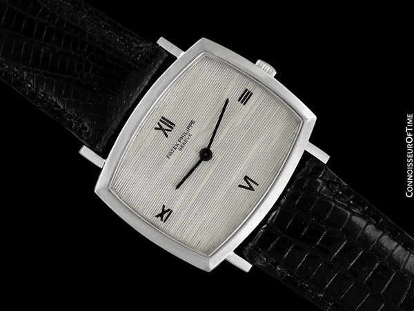 1970 Patek Philippe Classic Vintage Mens Ultra Thin Retro TV Watch - 18K White Gold