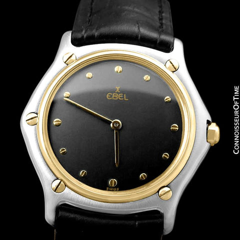 Ebel Classic Wave Mens Unisex Watch - Stainless Steel and 18K Gold