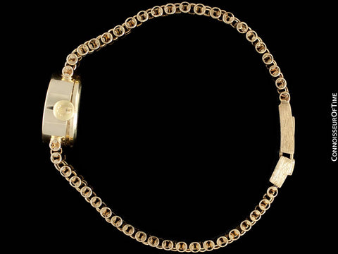 1970's Rolex Ladies Vintage Dress Bracelet Watch - 14K Gold