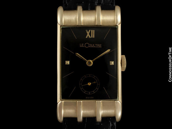 1949 Jaeger-LeCoultre Vintage Mens Watch, Extremely Rare Model, 14K Gold - The Mitchell