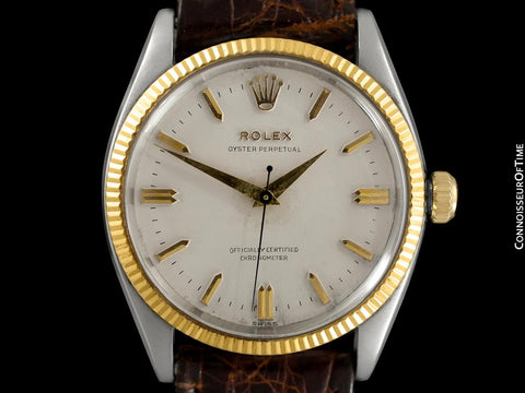 1957 Rolex Oyster Perpetual Classic Vintage Mens Automatic Watch, Ref. 6567 - Stainless Steel & 18K Gold