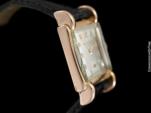 1930's Vacheron & Constantin Vintage Mens Midsize Art Deco Watch with Claw Lugs - 18K Rose Gold