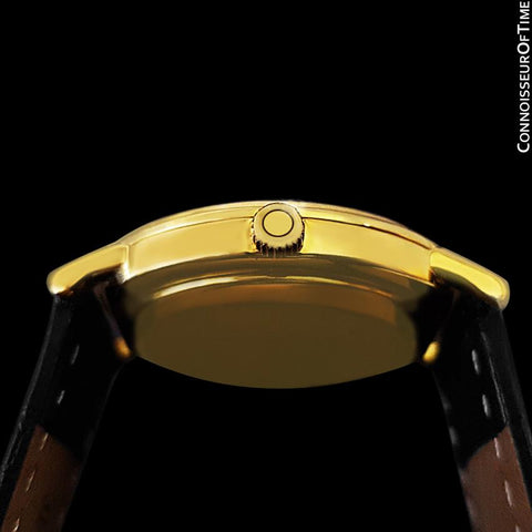 1979 Omega Constellation Mens Vintage Quartz Accuset Watch - 18K Gold Plated