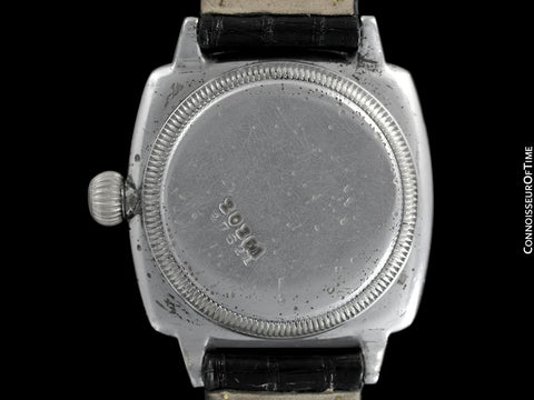 1926 Rolex Rare Very Early Oyster Vintage Mens Stainless Steel Watch - One of the Earliest Oysters Made