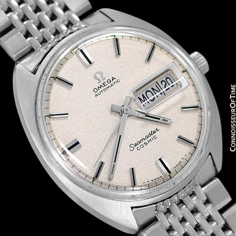 1960's Omega Vintage Mens Seamaster Cosmic Retro, Day Date, Automatic Watch - Stainless Steel