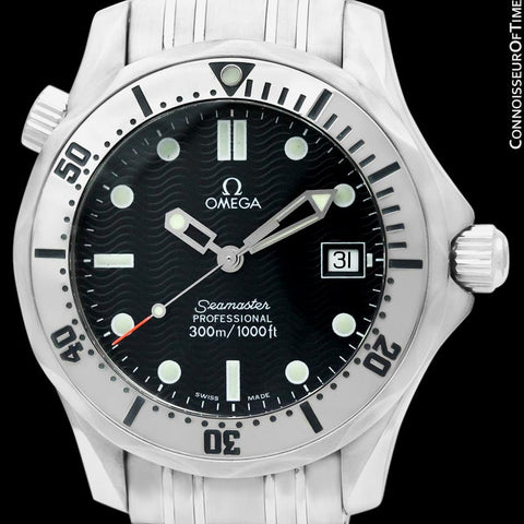 Omega Seamaster Midsize 300M (James Bond Style) Professional Divers Watch, Stainless Steel - 2562.80.00 - Boxes & Certificate