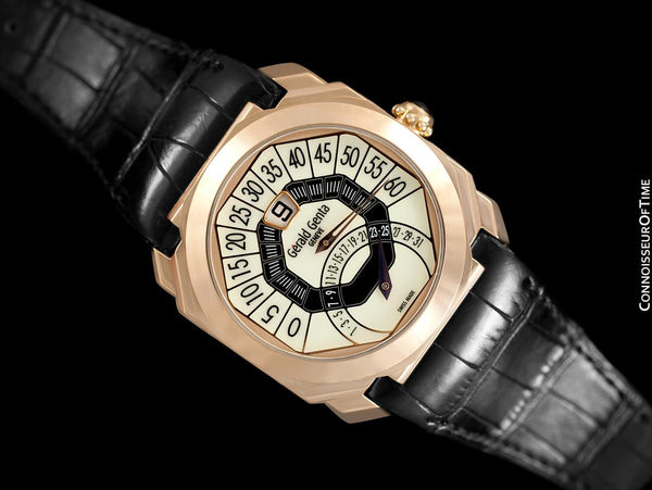 Gérald Genta Bi-Retrograde Large & Rare Mens Watch (Designer of Audemars Piguet Royal Oak) - 18K Rose Gold