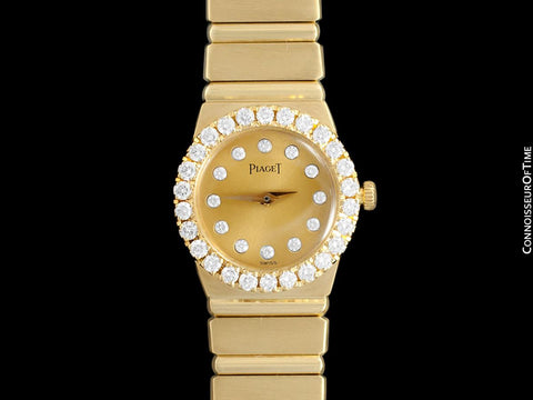 Piaget Polo Ladies Bracelet Watch - 18K Gold & Original Factory Piaget Diamonds