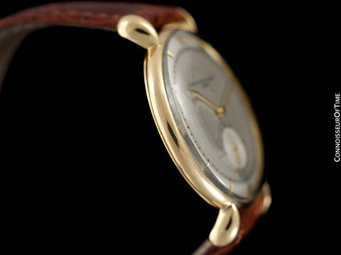 1940's Vacheron & Constantin Vintage Mens Watch, Large Size with Tear Drop Lugs - 18K Gold