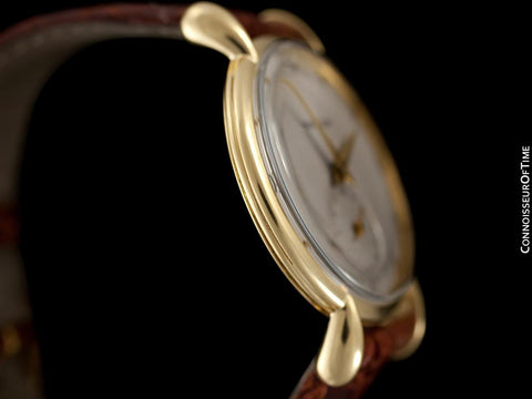 1947 Jaeger-LeCoultre Vintage Large 36mm Mens Watch With Tear Drop Lugs - 18K Gold