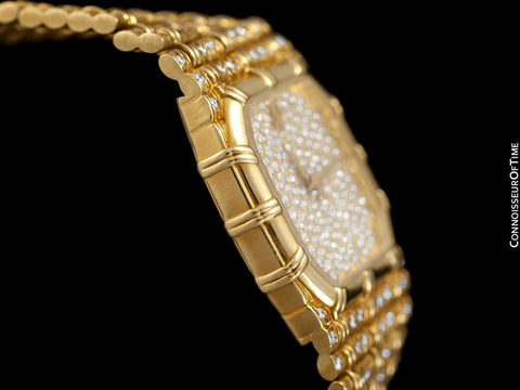 Audemars Piguet Very Rare & Exquisite Ladies 4 Carat Bamboo Bracelet Watch - 18K Gold & Diamonds