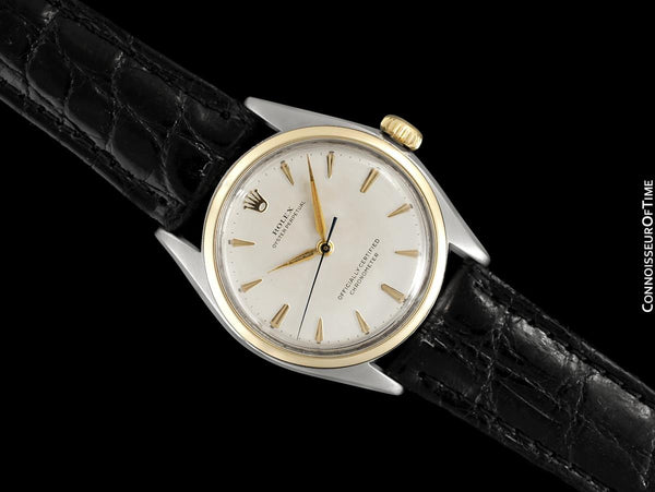 1952 Rolex Oyster Perpetual Mens Vintage Ref. 6084 Watch, Stainless Steel & Gold