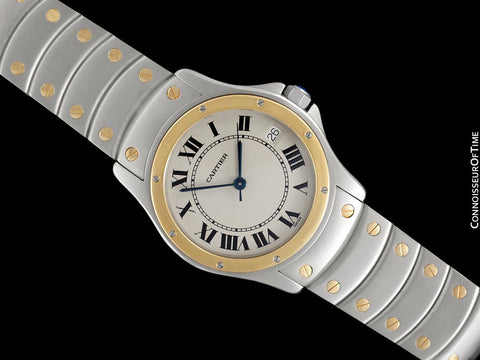 Cartier Santos Ronde Mens Two-Tone Automatic Watch - Stainless Steel & 18K Gold