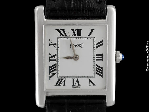 1960's Piaget Vintage Mens Midsize Unisex Watch with Award Winning 9P Movement - 18K White Gold