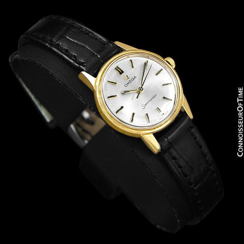 1964 Omega Seamaster Vintage Ladies Watch - 18K Gold Plated & Stainless Steel