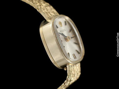 1960's Rolex Vintage Ladies Bracelet Dress Watch - 14K Gold