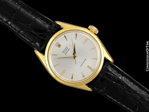 1960 Rolex Oyster Royal Classic Vintage Mens Handwound Watch - 18K Gold Plated & Stainless Steel