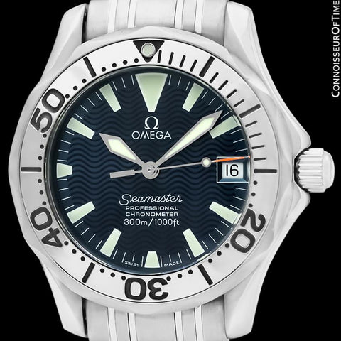 Omega Seamaster Midsize 300M Professional Diver Chronometer Limited Edition Jacques Mayol Watch, Stainless Steel - 2554.80.00