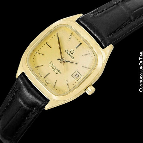 1982 Omega Seamaster Vintage Ladies Watch - 18K Gold Plated & Stainless Steel