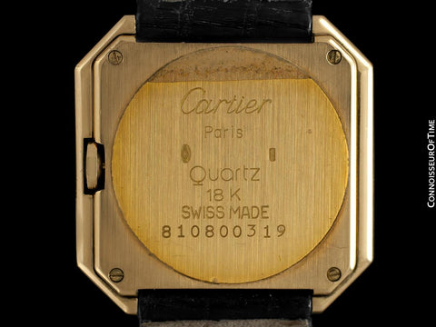 1978 Cartier Ceinture Vintage Mens Midsize Unisex Watch - Solid 18K Gold