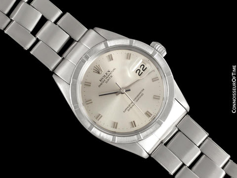 1971 Rolex Date (Datejust) Vintage Mens with Silver Dial - Stainless Steel